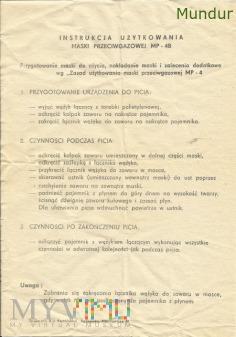 Maska przeciwgazowa MP-4B instrukcja