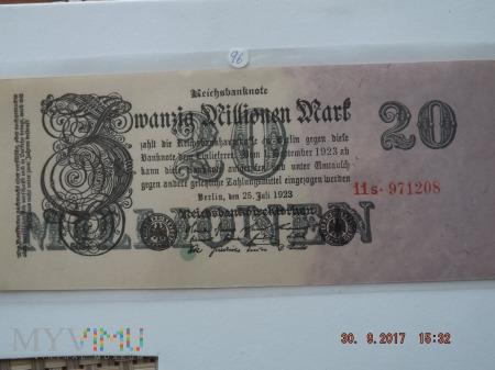 Zwanzig Milionen Mark - 1923r.