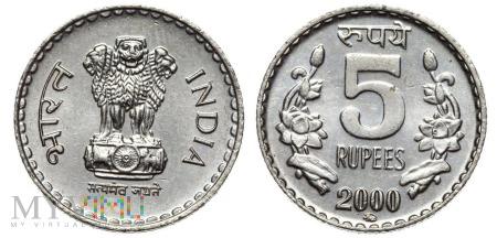 Indie, 5 Rupii 2000