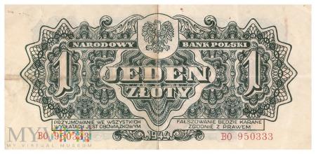 Duże zdjęcie Polska - 1 złoty (1944)