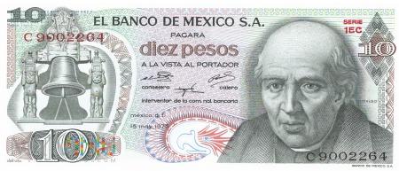 Meksyk - 10 pesos (1975)