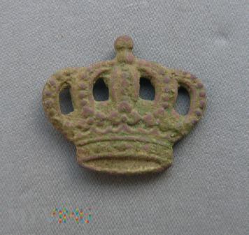 Korona z saxońskiego czako okres wojny 1870