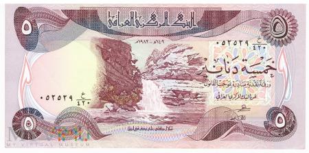 Irak - 5 dinarów (1982)