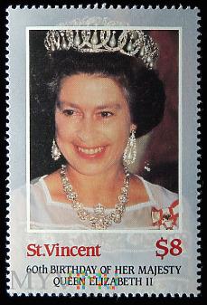 St. Vincent 8$ Elżbieta II