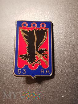 Odznaka 53 Pułku Artylerii - Francja /1 wersja/