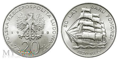 20 złotych, 1980, 50 Lat Daru Pomorza