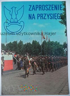 Zaproszenie na Przysięgę Wojskową 1984 Wrocław