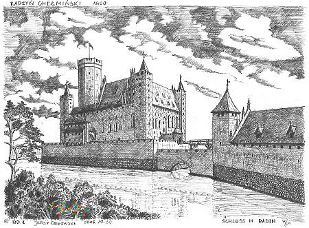 Zamek Krzyżacki w Radzyniu Chełmińskim.