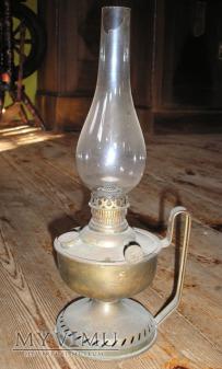 Lampa naftowa mosiężna.