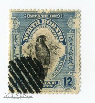 Borneo Północne znaczek North Borneo ptak