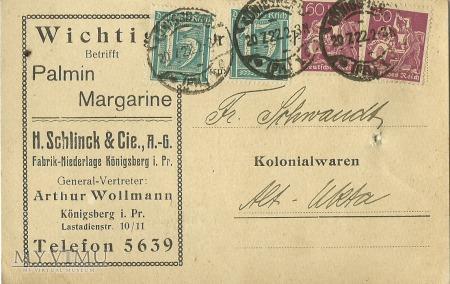 H. Schlinck & Cie., A.-G. Konigsberg 1922 r.