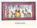 1974 Święty Mikołaj niedźwiadek Prezenty Święta