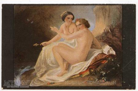 Carl Timoleon von Neff - Dziewczęta w grocie