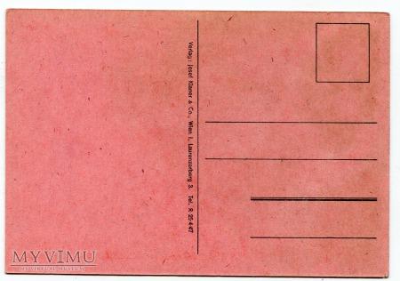 Diabeł zabawny KRAMPUS z Austrii Gruss vom c. 1950