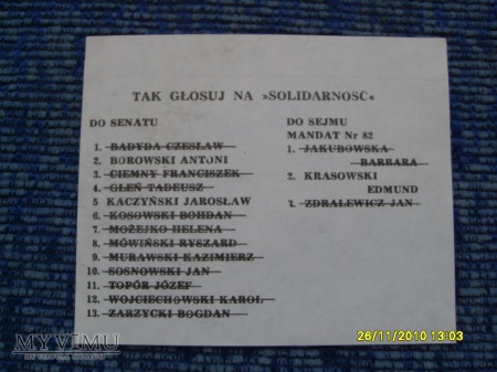 "Agitka ""Solidarności"" (3 szt.) -1989r."