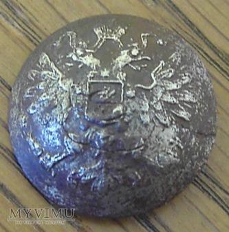 Guzik carski srebrzony