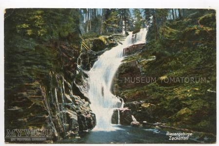 Karkonosze - Wodospad Kamieńczyka Zackkelfall 1915