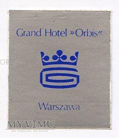 Nalepka hotelowa - Warszawa - Grand Hotel