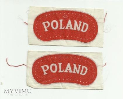 Naszywki przynależności państwowej POLAND