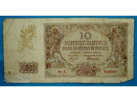 10 Złotych 1940