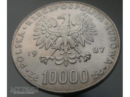 Jan Paweł II, 10 000 zł, 1987 rok.
