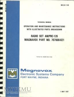 INSTRUKCJA I DOKUMENTACJA RADIO SET AN/PRC - 126