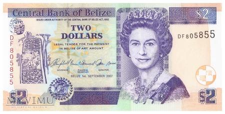 Belize - 2 dolary (2007)