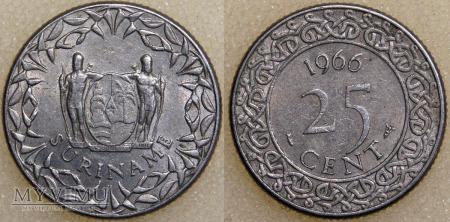 Surinam, 25 CENT 1966