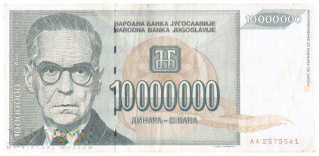 Jugosławia - 10 000 000 dinarów (1993)