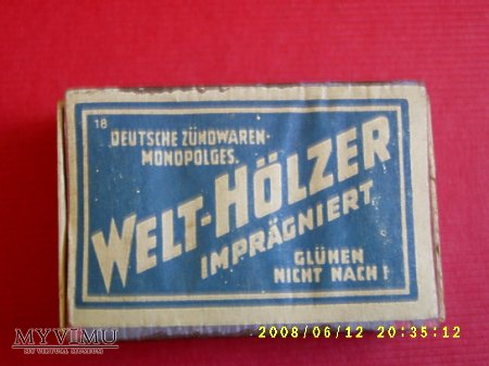 Welt-Holzer.[Zapałki].