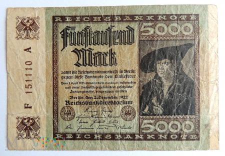 Banknot 5000 Marek 1922