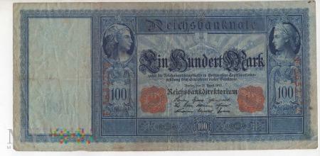 Banknot 100 Marek - ROK 1910