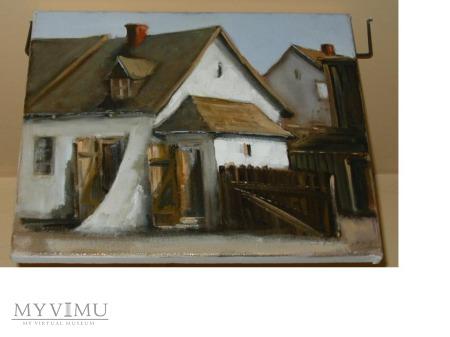 Chata w Kazimierzu Dolnym - olej