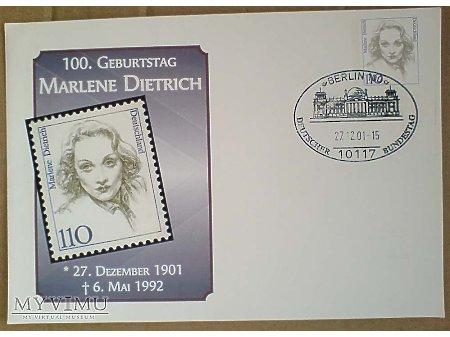 Duże zdjęcie Marlene Dietrich Koperta 2001 urodzinowa