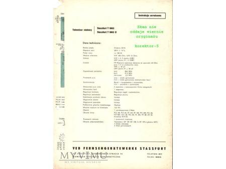 Instrukcja serwisowa telewizora STASSFURT