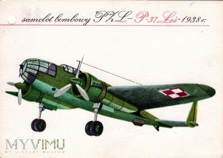 samolot bombowy PZL P-37 Łoś 1936 r.