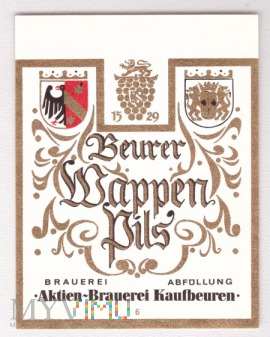 Aktien, Beurer Wappen Pils