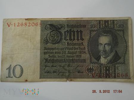 10 reichsmark 1929