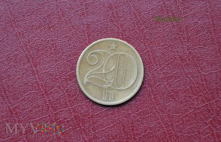 Moneta czechosłowacka: 20 halerzy