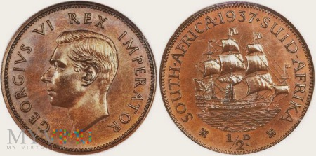 South Africa, 1/2 penny 1937