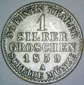 Fryderyk Wilhelm IV 1841-1861-1 S. GROSCHEN 1859