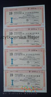 19 Krajowa Loteria PieniężnaI Rzut 1957 rok