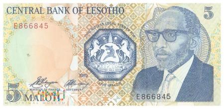 Lesotho - 5 maloti (1989)