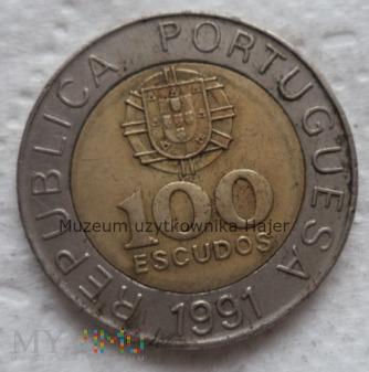 Portugalia - 100 escudo - 1991 rok