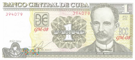 Kuba - 1 peso (2016)