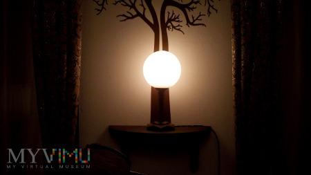 Mała lampka drewniana - Art Deco