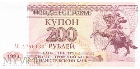 Mołdawia (Naddniestrze) - 200 rubli (1993)