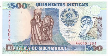 Mozambik - 500 meticali (1991)