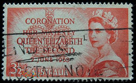 Australia 3 1/2d Elżbieta II