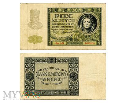 5 złotych 1941 (AD 4673500)